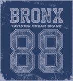 Vintage bronx typography t-shirt graphics Royalty Free Stock Photos