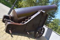 Vintage. Bronze cannon, long shoots, but the touches for the soul Royalty Free Stock Images