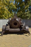 Vintage. Bronze cannon, long shoots, but the touches for the soul Stock Images