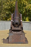 Vintage. Bronze cannon, long shoots, but the touches for the soul Stock Photos