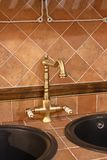Vintage bronze faucet Royalty Free Stock Photo
