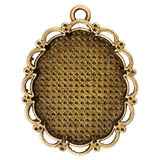 Vintage bronze pendant Royalty Free Stock Photos