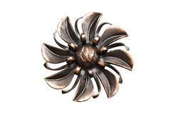 Vintage brooch isolated Royalty Free Stock Photography