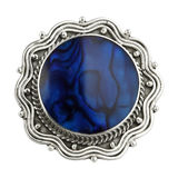 Vintage brooch isolated on white Royalty Free Stock Image