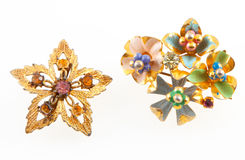 Vintage Brooches Royalty Free Stock Images