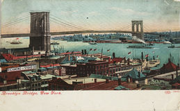 Vintage Brooklyn bridge Royalty Free Stock Photo