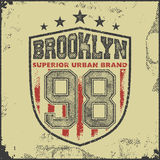 Vintage brooklyn typography t-shirt graphics Royalty Free Stock Image
