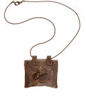 Vintage brown amulet Stock Photo
