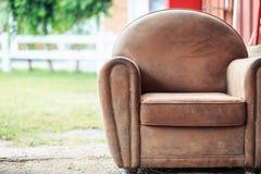 Vintage brown armchair Stock Image