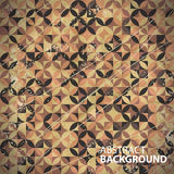 Vintage brown background of circles. And triangles stock illustration