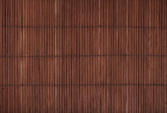 Vintage brown bamboo wood mat background texture. Vintage brown natural wooden bamboo mat background texture with vertical planks, close up royalty free stock photos