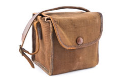 Vintage Brown Canvas Camera Bag. Stock Image