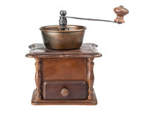 Vintage brown coffee mill Royalty Free Stock Photos