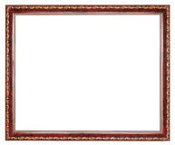 Vintage brown decorated wooden picture frame Stock Photography