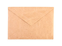 Vintage brown envelope isolated close-up Royalty Free Stock Photo