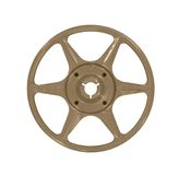 Vintage Brown Film Reel Stock Image