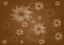 Vintage brown floral pattern Stock Photos
