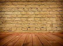 Vintage brown grungy textured brick interior Royalty Free Stock Image