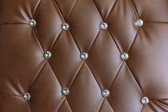 Vintage brown leather texture sofa. Royalty Free Stock Photos