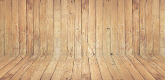 Vintage the brown old wood wall and floor texture with knot for Royalty Free Stock Photo