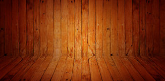 Vintage the brown old wood wall and floor texture with knot Stock Photos