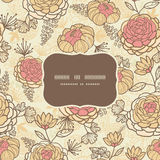 Vintage brown pink flowers frame seamless pattern Royalty Free Stock Photography