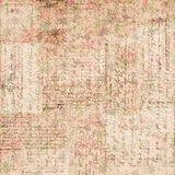 Vintage brown and pink grungy faded Shabby chic abstract floral background Stock Photos