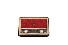 Vintage brown radio Royalty Free Stock Images