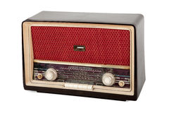 Vintage brown radio Stock Photos