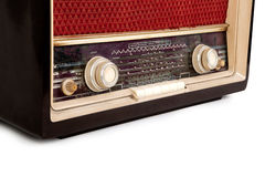 Vintage brown radio Royalty Free Stock Photos