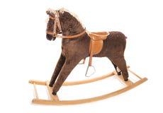 Vintage brown rocking horse Royalty Free Stock Photo