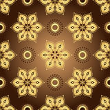 Vintage brown seamless pattern Stock Photography