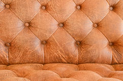 Vintage brown sofa Royalty Free Stock Images