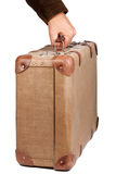 Vintage brown suitcase Royalty Free Stock Photo
