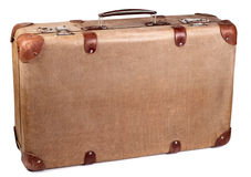 Vintage brown suitcase Royalty Free Stock Images