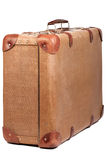 Vintage brown suitcase Stock Image
