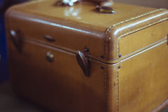 Vintage brown suitcase bag Royalty Free Stock Photos