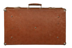 Vintage brown suitcase Royalty Free Stock Photography