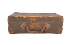 Vintage brown suitcase Royalty Free Stock Photos