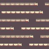 Vintage brown train pattern Royalty Free Stock Photo