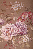 Vintage brown wallpaper with floral victorian pattern Stock Photos