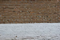 Brick wall texture background. Vintage brown and white brick wall texture background Royalty Free Stock Image