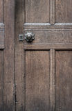Vintage Brown Wooden Door With Old Door Knob Stock Photo