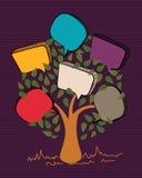 Vintage bubble speech tree royalty free illustration