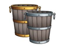 Vintage Bucket  №1005 Royalty Free Stock Photography