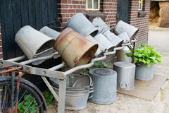Vintage buckets Stock Images