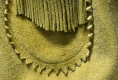 Vintage Buckskin Leather Coat Detail Stock Images