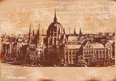 Vintage Budapest Background Stock Images