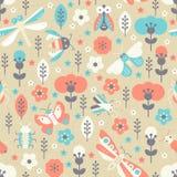 Vintage Bug Pattern Royalty Free Stock Images