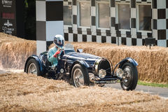 Vintage Bugatti. Type 59 sports car - circa 1935, racing at the Festival of Speed event held at Goodwood, UK on July 13, 2013 Royalty Free Stock Photo